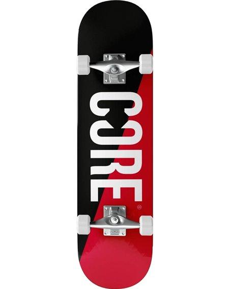 """Core Skateboard Split 7.75"""" Red/Black"""