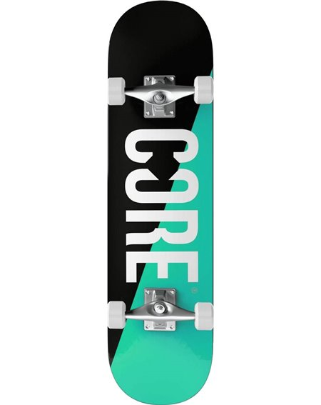 "Core Split 7.75"" Complete Skateboard Teal/Black"
