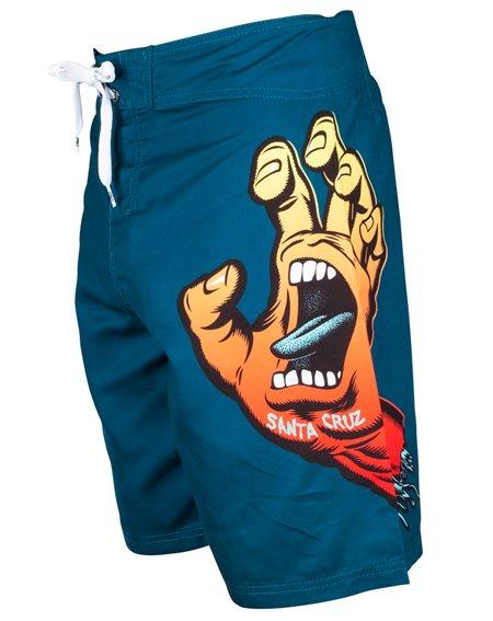 Santa Cruz Men's Board Shorts Fade Hand Ink Blue