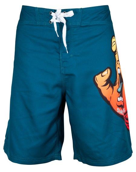 Santa Cruz Fade Hand Shorts da Surf Uomo Ink Blue