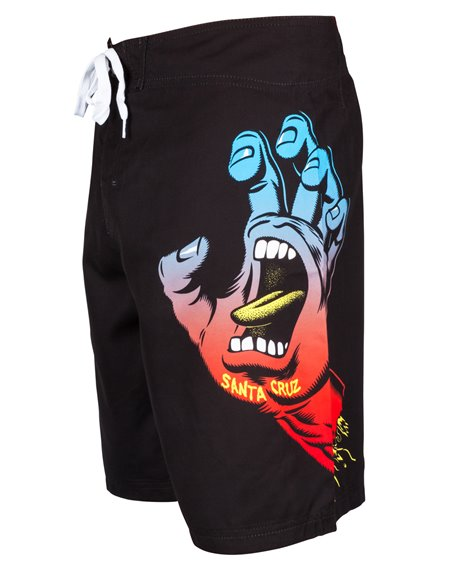 Santa Cruz Men's Board Shorts Fade Hand Black