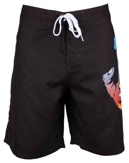 Santa Cruz Fade Hand Shorts da Surf Uomo Black