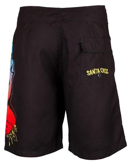 Santa Cruz Men's Board Shorts Fade Hand Black