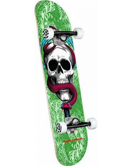 """Powell Peralta Skull & Snake 7.75"""" Complete Skateboard Green"""