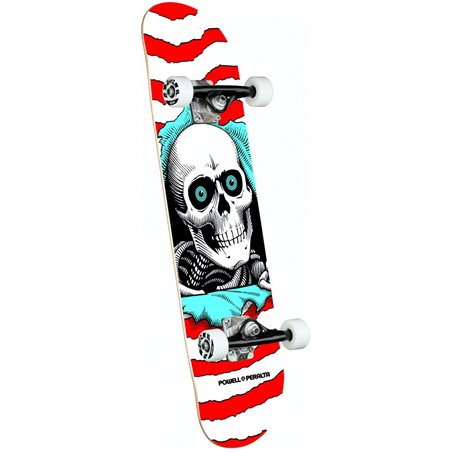 "Powell Peralta Ripper 8.00"" Complete Skateboard Red"