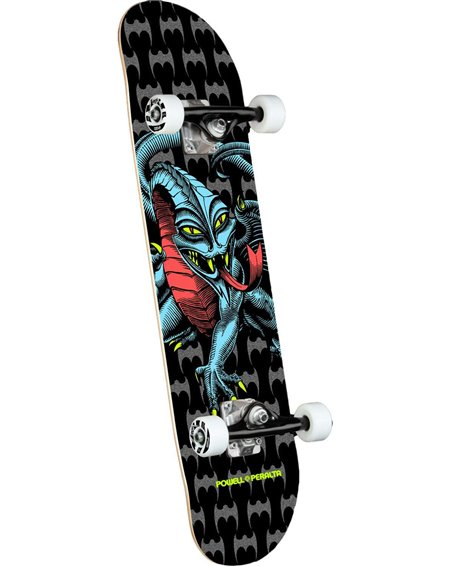 "Powell Peralta Skateboard Completo Cab Dragon 7.75"" Black"