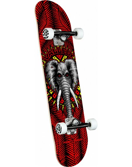 "Powell Peralta Skateboard Vallely Elephant 8.25"" Red"
