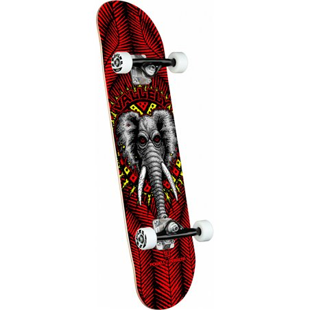 """Powell Peralta Vallely Elephant 8.25"""" Complete Skateboard Red"""