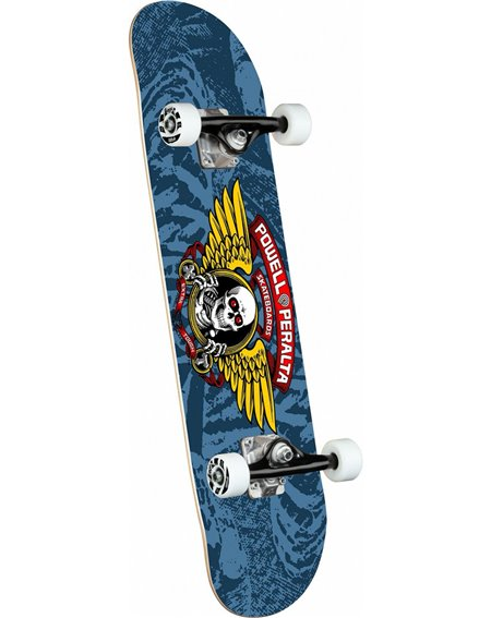 "Powell Peralta Winged Ripper 8.00"" Complete Skateboard Blue"