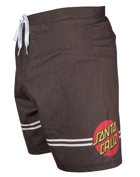 Santa Cruz Men's Board Shorts Classic Dot Washed Black