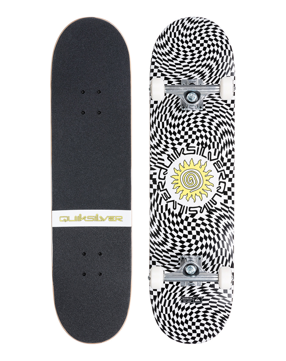 """Quiksilver Psyched Sun 8.25"""" Complete Skateboard"""