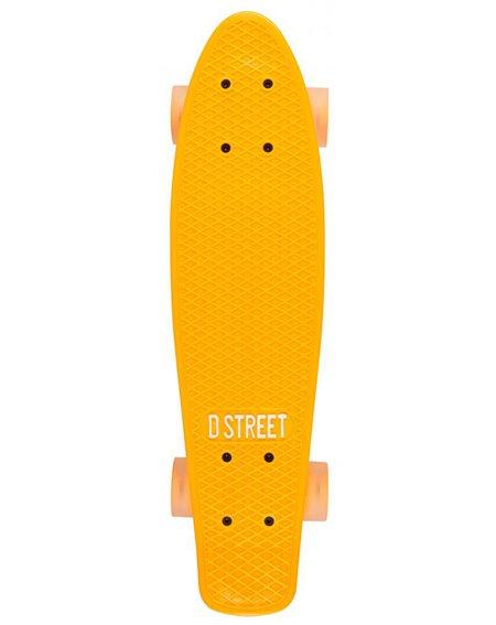 D-Street Poly Prop Neon Flash Skateboard Cruiser Orange