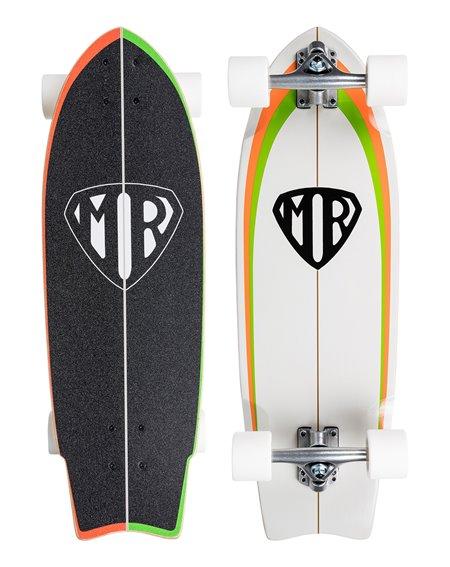 """Quiksilver Mark Richards Retro 28"""" Skateboard Cruiser White"""