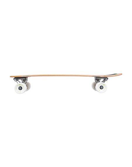 Quiksilver Skateboard Cruiser Mark Richards Retro White