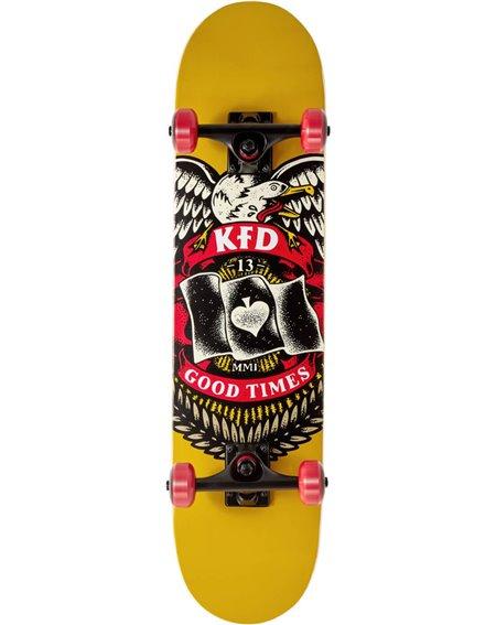 """KFD Young Gunz 7.50"""" Komplett-Skateboard Badge Yellow"""