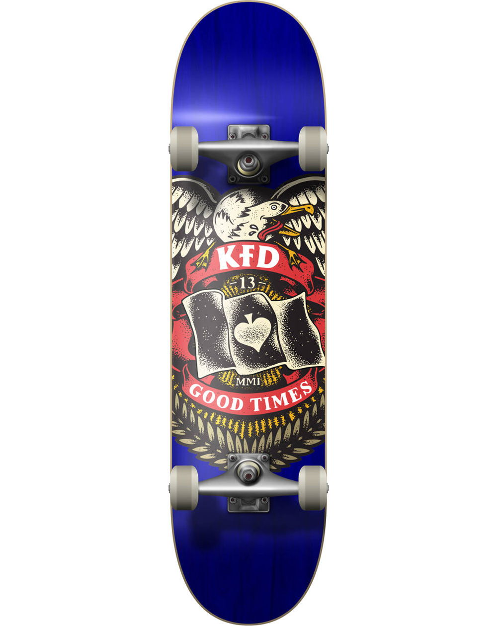 "KFD Skateboard Complète Young Gunz 7.75"" Badge Blue"