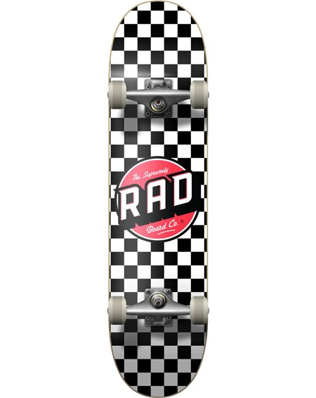 "Rad Checkers 7.75"" Complete Skateboard Black/White"