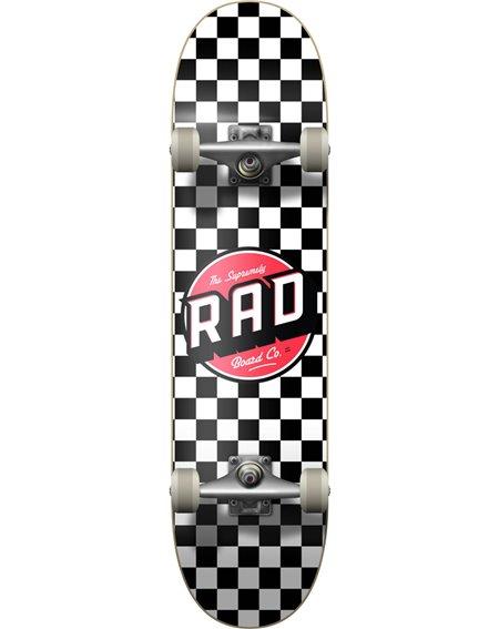 "Rad Checkers 7.75"" Komplett-Skateboard Black/White"