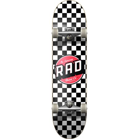 "Rad Checkers 8.00"" Complete Skateboard Black/White"
