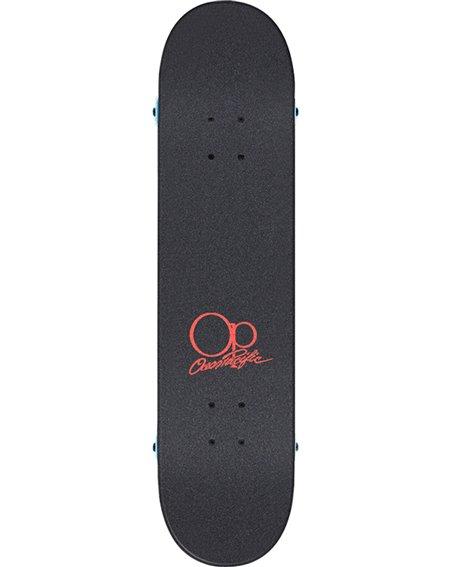 """Ocean Pacific Skateboard Sunset 8.00"""" White/Red"""