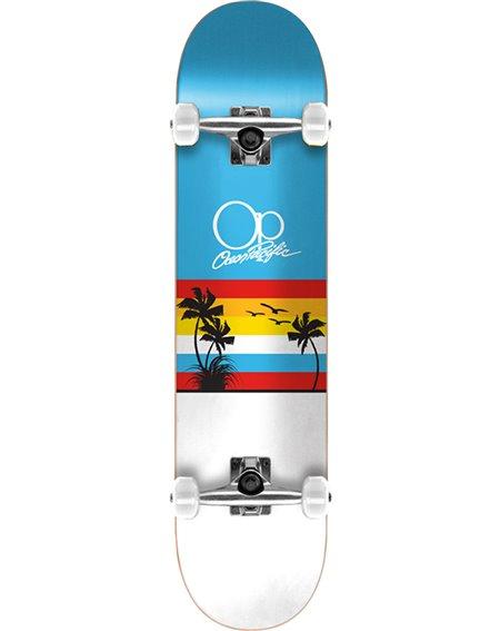"""Ocean Pacific Skateboard Sunset 8.25"""" Blue/White"""