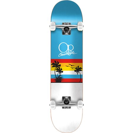 "Ocean Pacific Skateboard Sunset 8.25"" Blue/White"