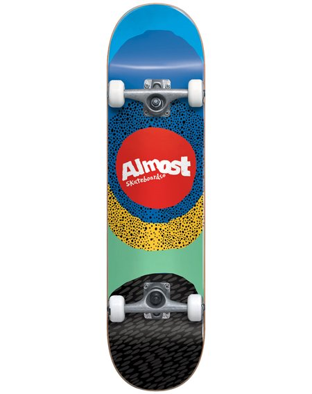 "Almost Radiate 8.25"" Complete Skateboard Blue"