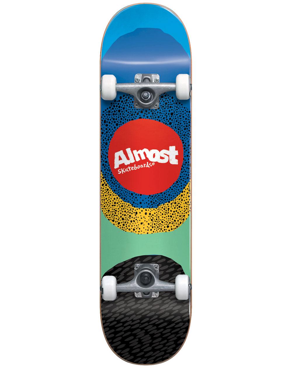 "Almost Radiate 8.25"" Complete Skateboard Blue"