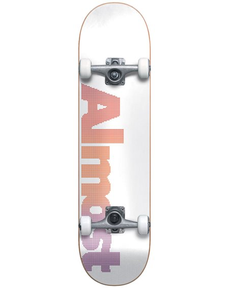 "Almost Dot Logo 7.75"" Complete Skateboard White"