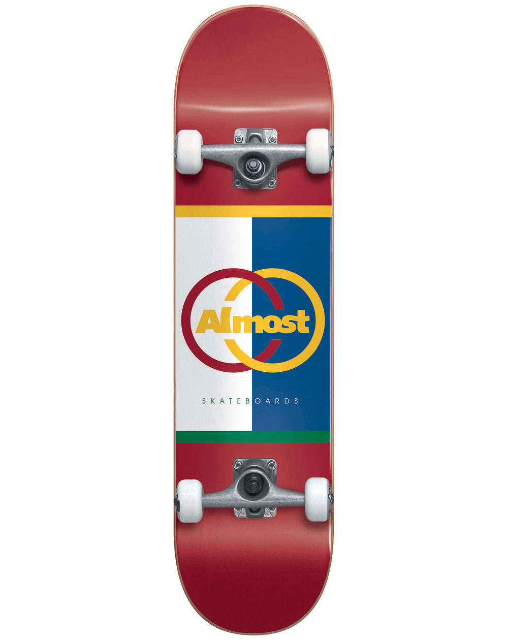 """Almost Ivy League 8.125"""" Complete Skateboard Red"""