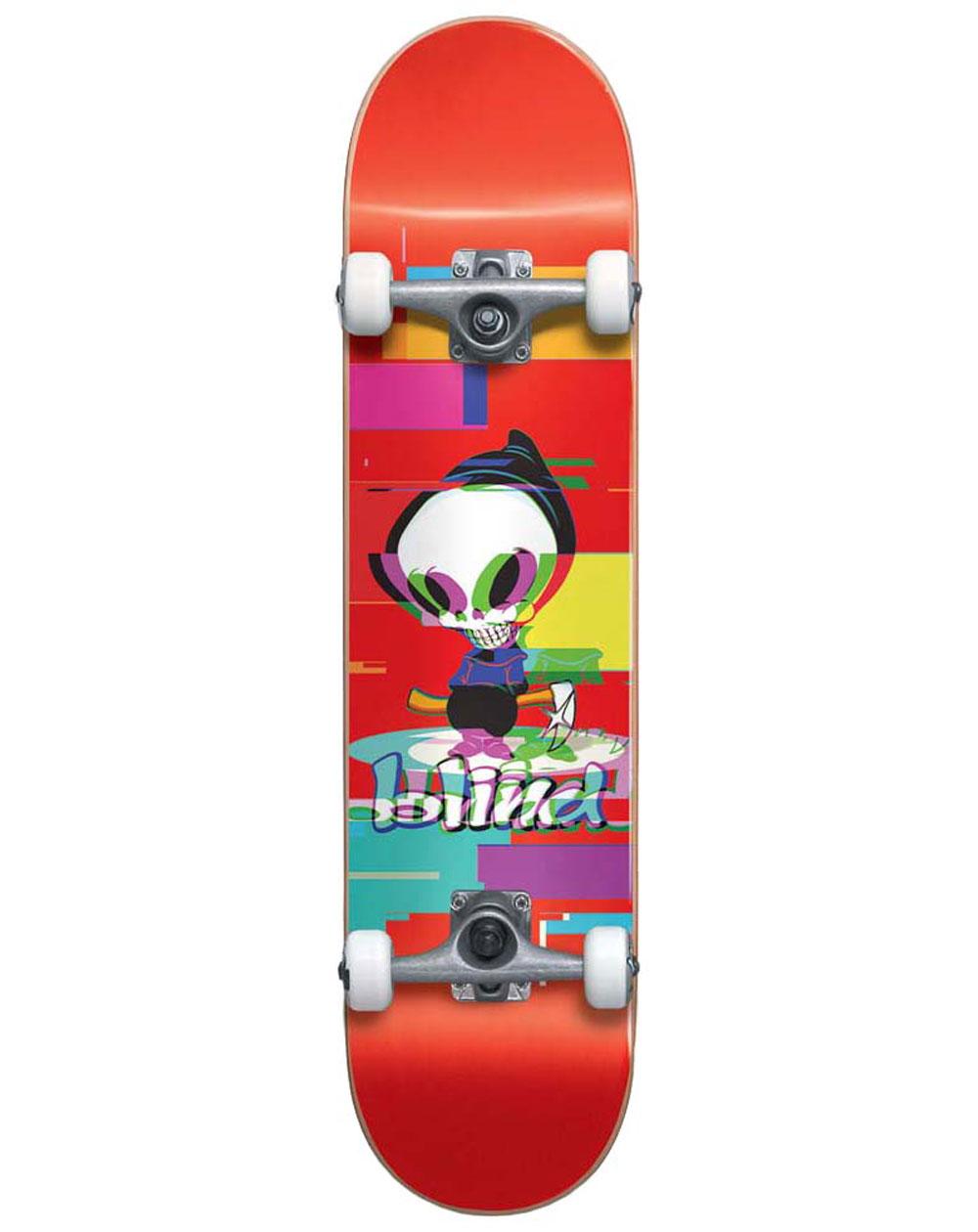 """Blind Reaper Glitch 7.75"""" Complete Skateboard Red"""