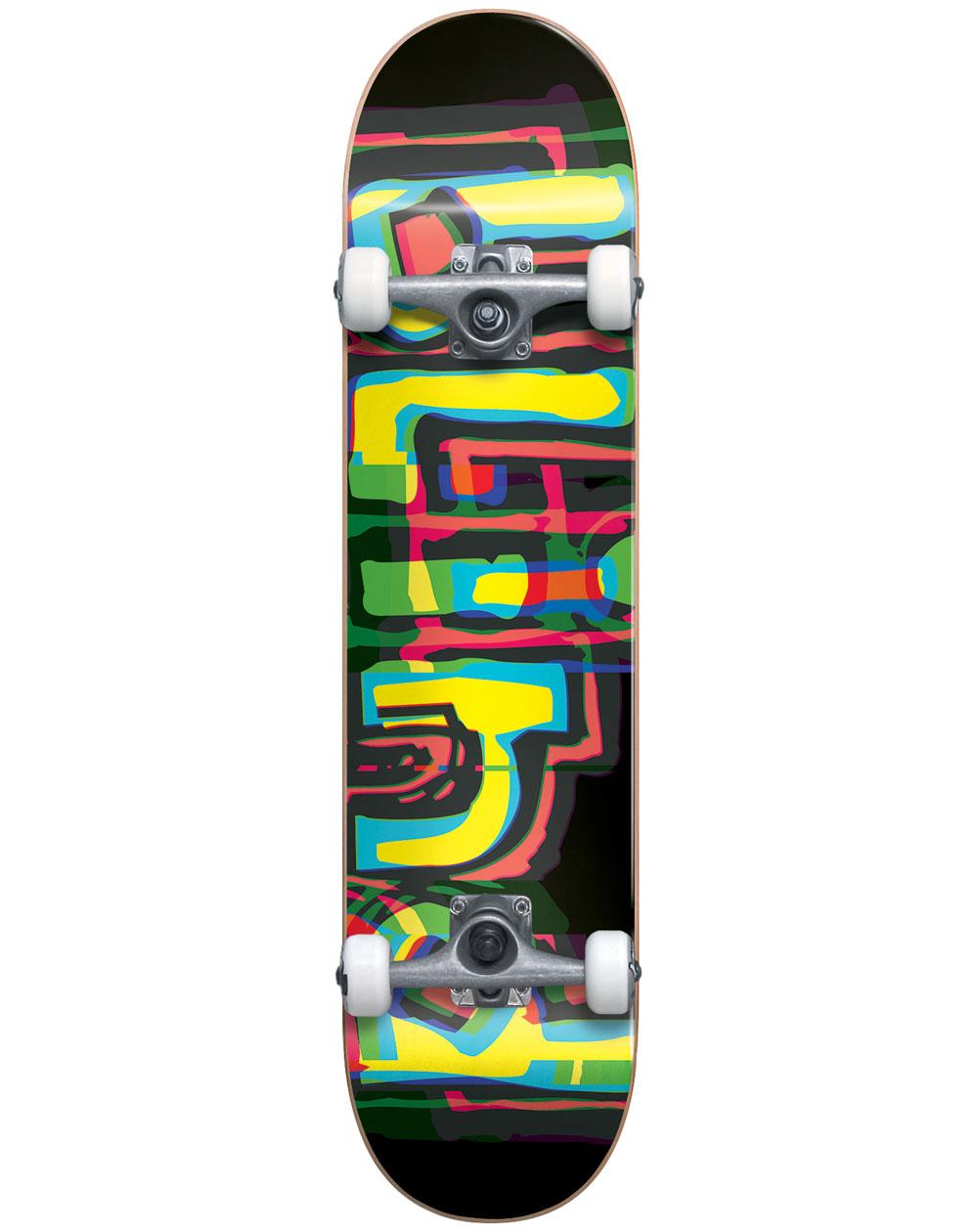 """Blind Logo Glitch 7.875"""" Complete Skateboard Black"""