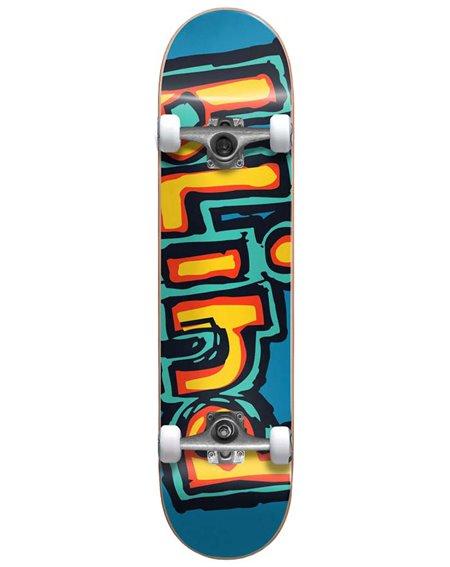 """Blind Matte OG Logo 7.75"""" Complete Skateboard Bright Red/Teal"""