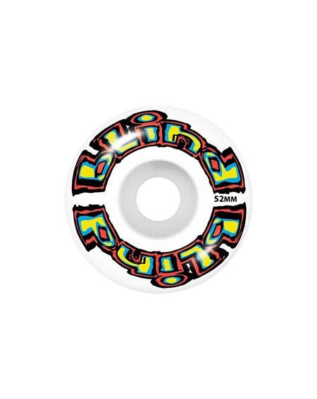 """Blind Skateboard Matte OG Logo 7.75"""" Bright Red/Teal"""