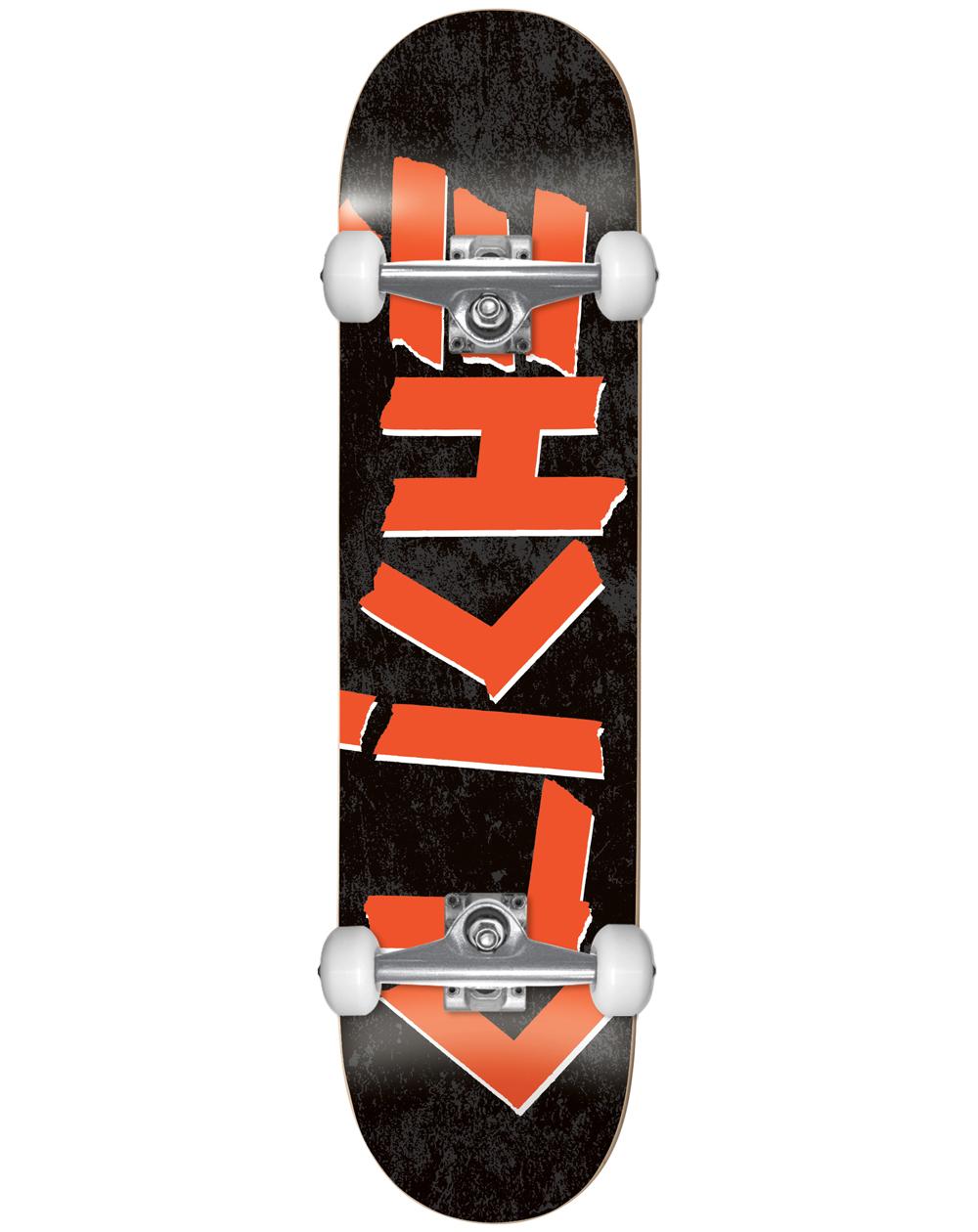 "Cliché Scotch 7.75"" Complete Skateboard Black/Red"