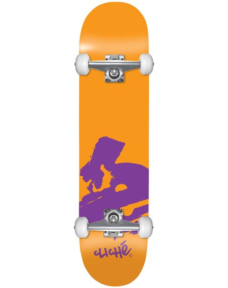 "Cliché Europe 7.875"" Complete Skateboard Orange"