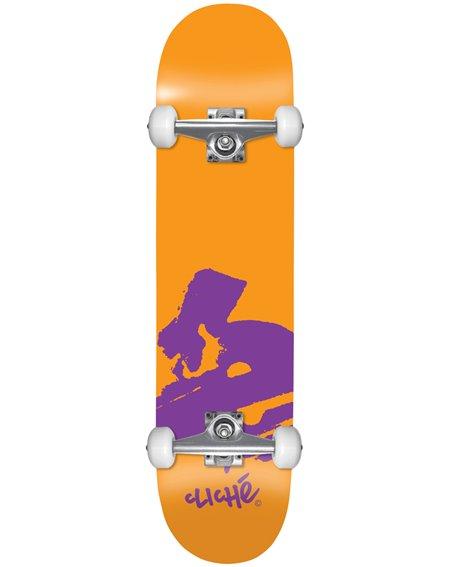 "Cliché Europe 7.875"" Komplett-Skateboard Orange"