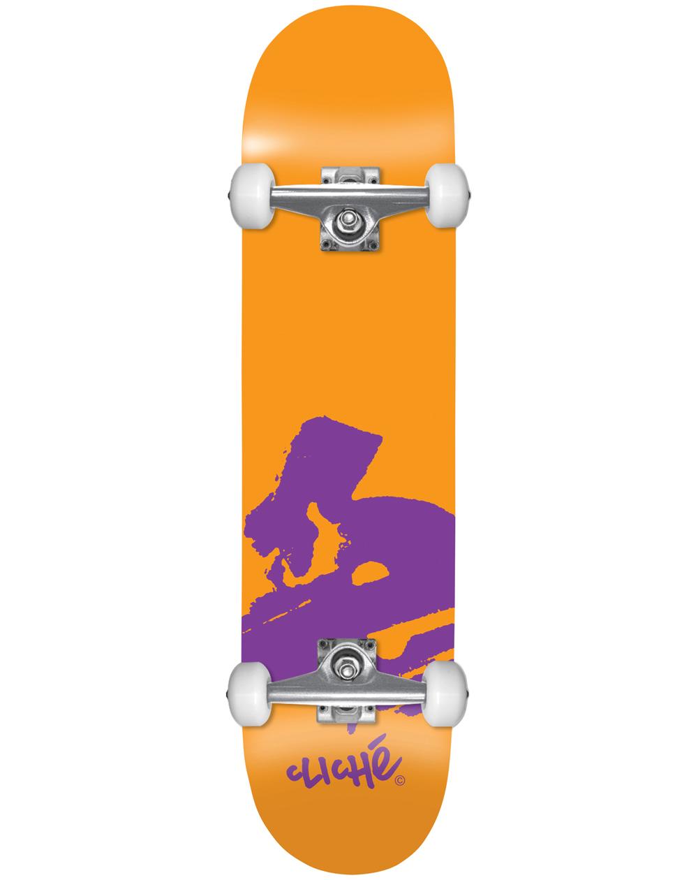"Cliché Europe 7.875"" Complete Skateboard Orange"