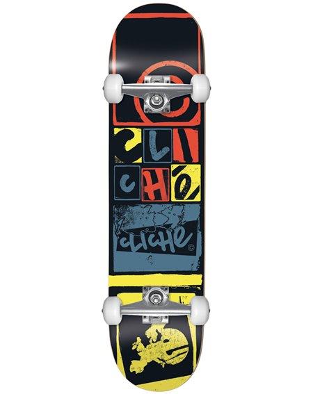 """Cliché Skateboard Completo Letter Press 8.00"""" Black"""