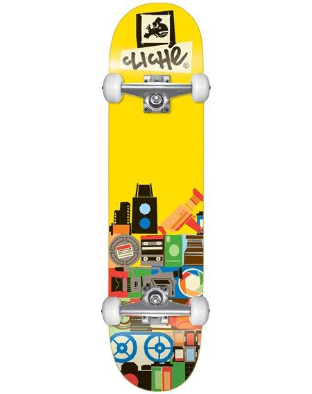 "Cliché Skateboard Document 8.00"" Yellow"