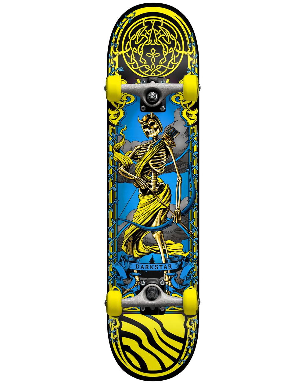 "Darkstar Arrow 7.5"" Complete Skateboard Yellow"