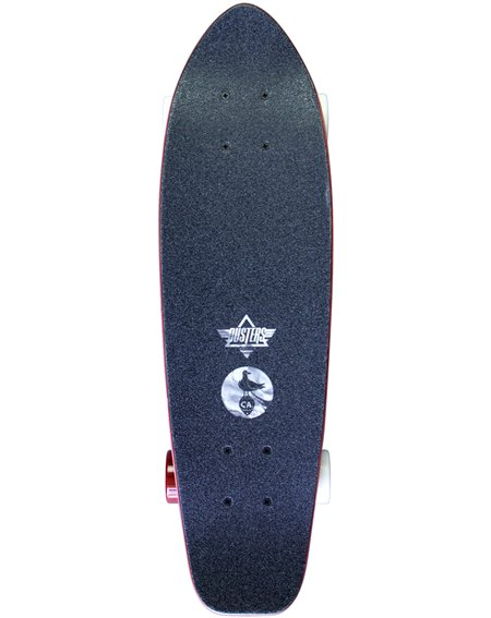 "Dusters Skateboard Cruiser Bird Lava 25"""