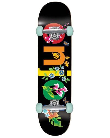 """Enjoi Skateboard Completo Flowers Resin Premium 8.00"""" Black"""
