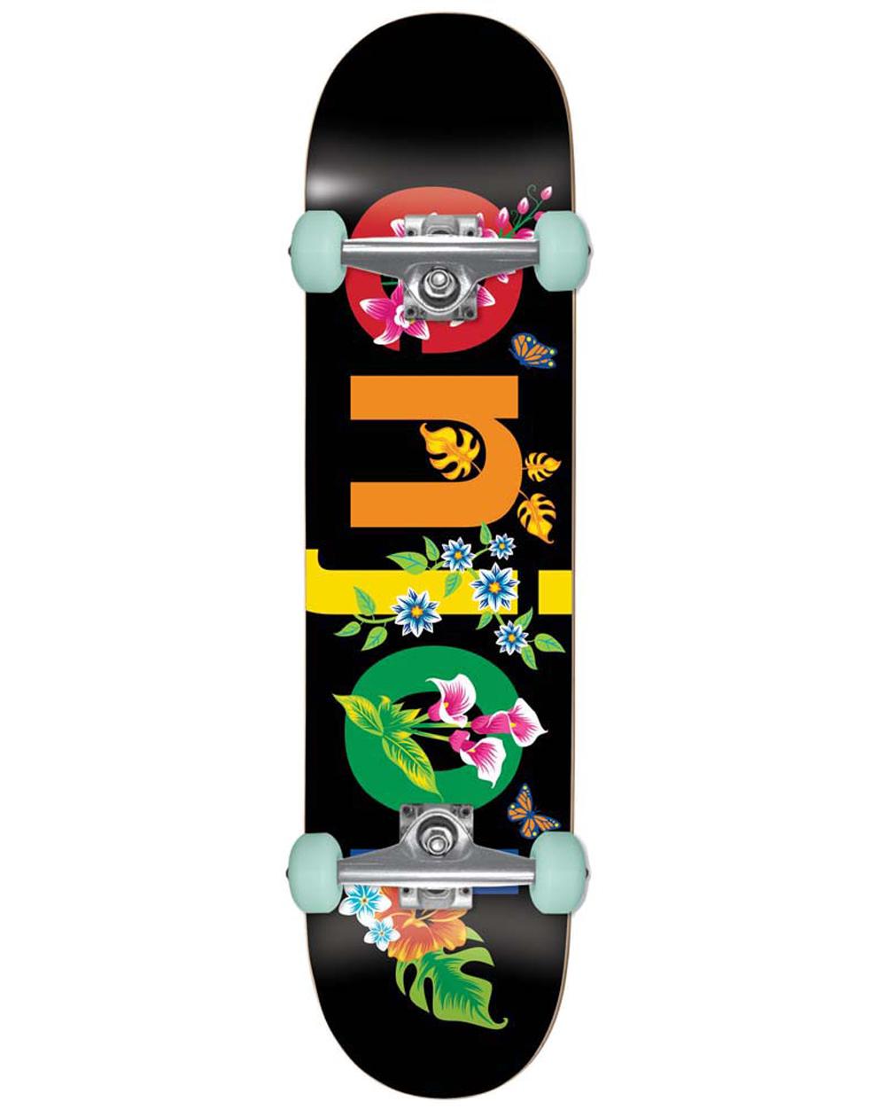 """Enjoi Flowers Resin Premium 8.00"""" Complete Skateboard Black"""