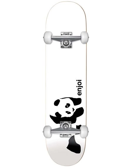 "Enjoi Whitey Panda 7.75"" Complete Skateboard White"