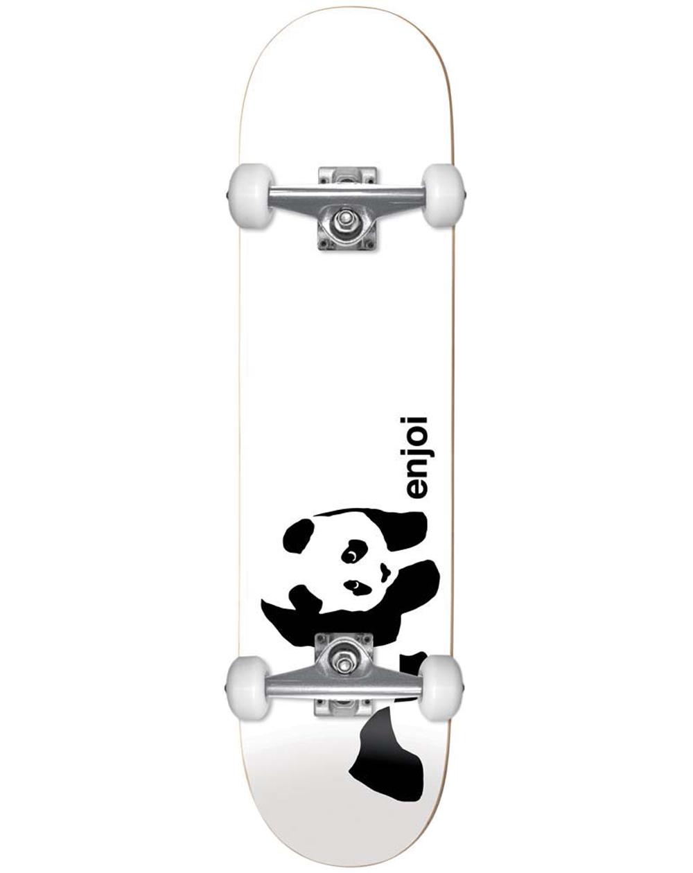 "Enjoi Skateboard Whitey Panda 7.75"" White"
