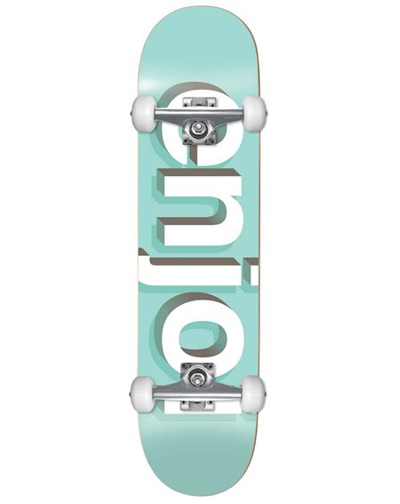 "Enjoi Helvetica Neue 8"" Complete Skateboard Aqua"