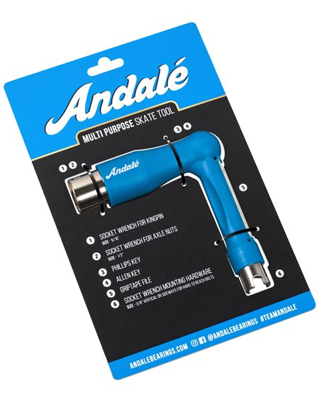 Andalé Chiave Multiuso Skateboard Multi Purpose Blue