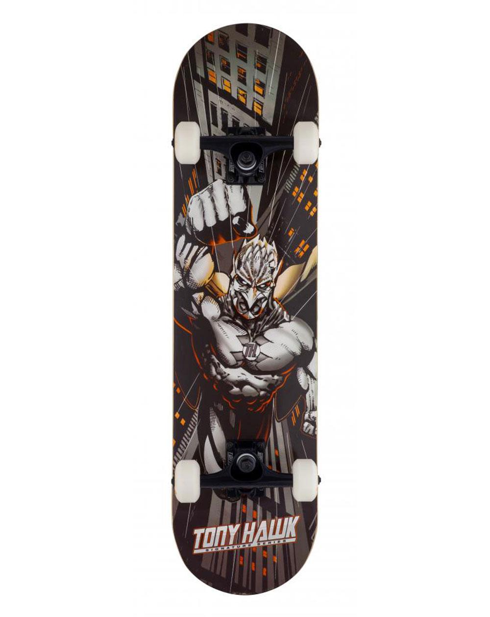 "Tony Hawk Skyscaper 7.75"" Complete Skateboard Orange"