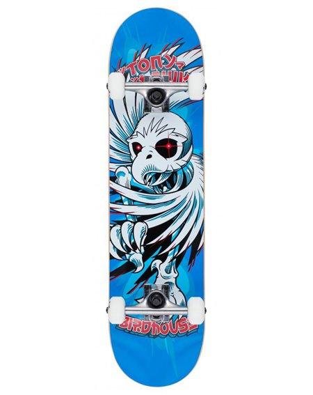 "Birdhouse Hawk Spiral 7.75"" Complete Skateboard Blue"